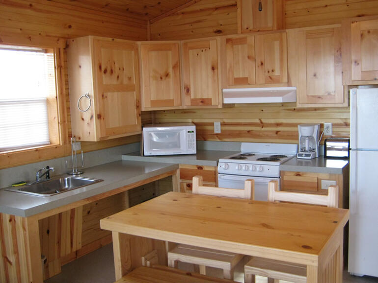 Milford Cabin Kitchen