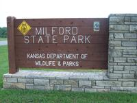 Milford State Park Sign