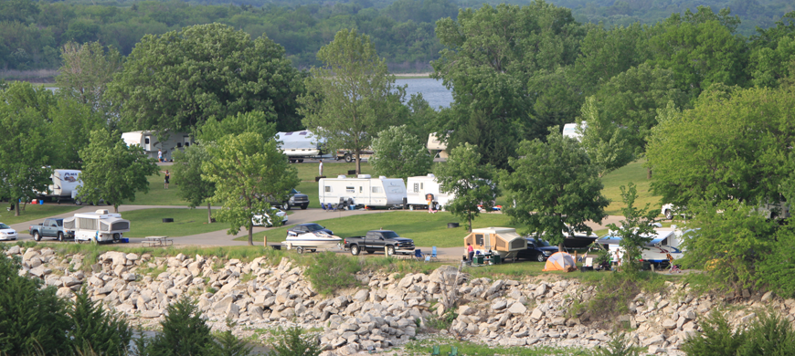Milford-State-Park-Campground-View