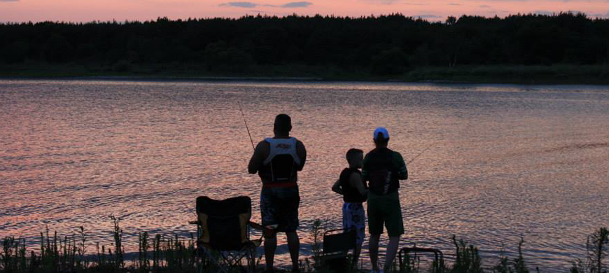Milford-State-Park-Fishing-Sunset