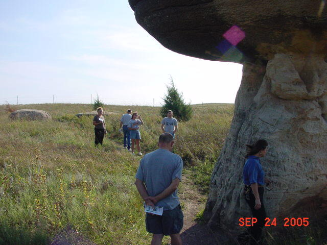 Mushroom Rock with people