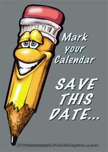 save the date sign