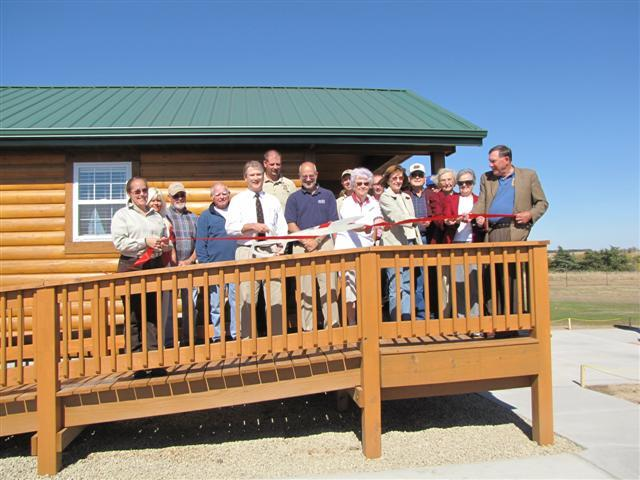 Cabin ribbon cutting