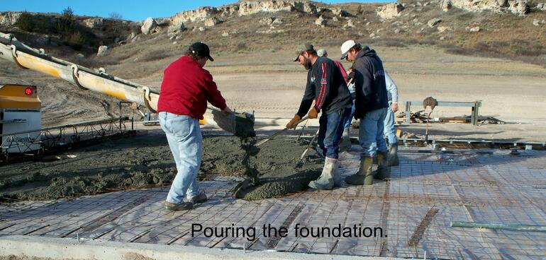 Pouring Foundation
