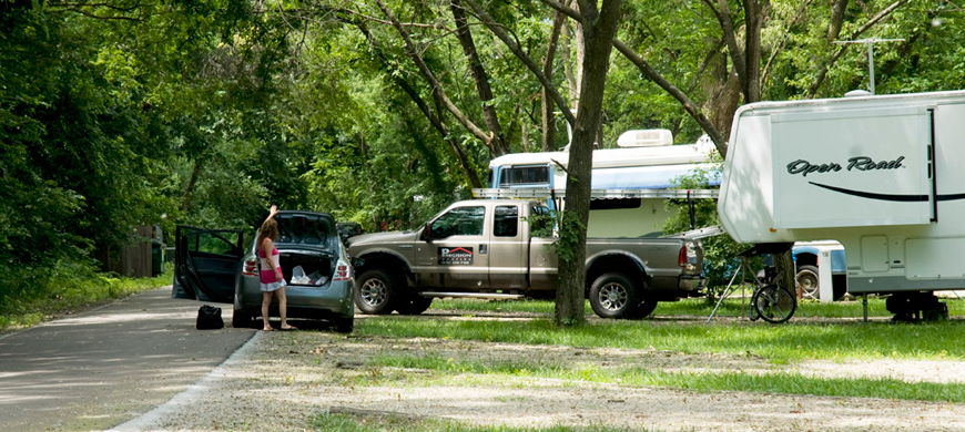 Tuttle-Creek-State-Park-River-Pond-Campsite