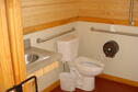 Wilson Lake Elm Cabin Bathroom