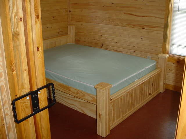 Wilson Lake Elm Cabin Bedroom