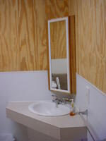 Wilson Lake Foxtail Cabin Bathroom sink