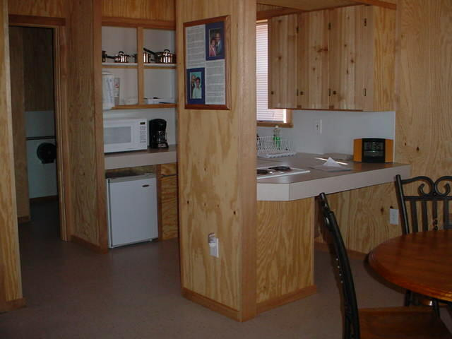 Wilson Lake Foxtail Cabin Kitchen