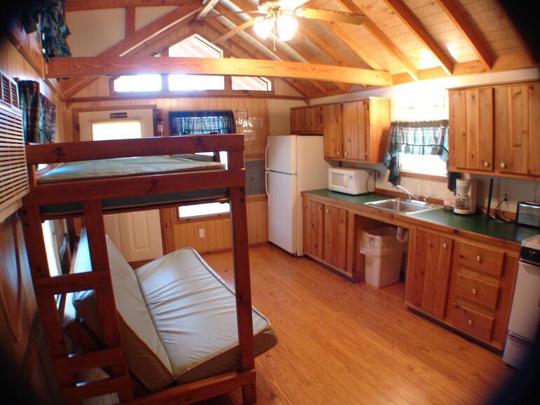 El dorado state park deluxe ada cabin 6 interior el for El dorado cabins