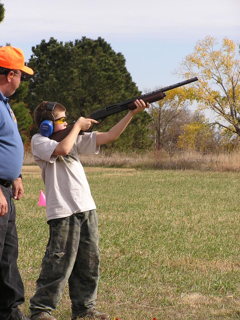 Youth trap shoot at Glen Elder.