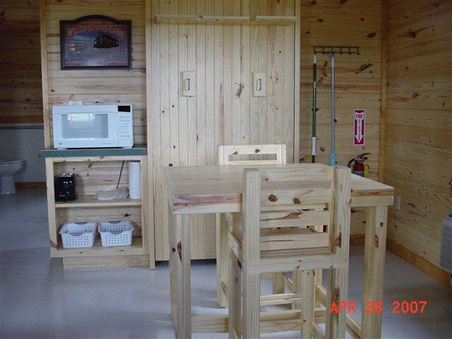 Kanopolis cabin-view inside at the front door