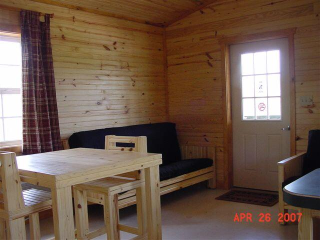Kanopolis cabin-view of front door from the kitchen