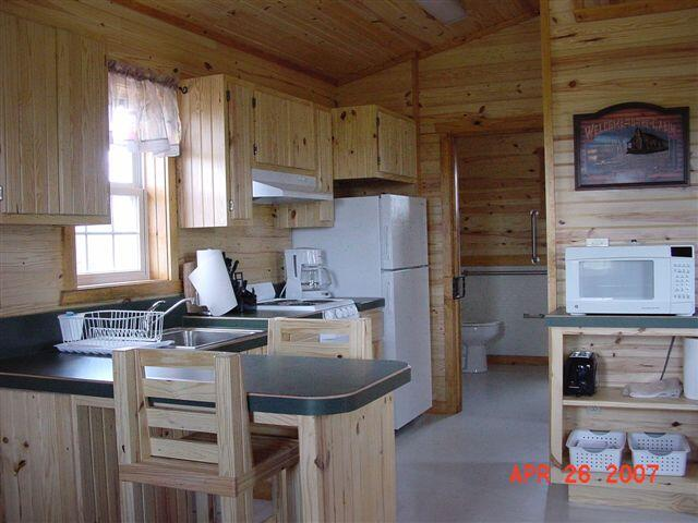 Kanopolis Cabin-view of the kitchen