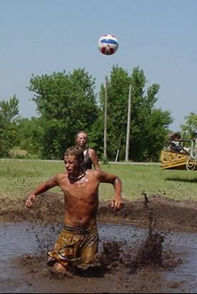 Mud Volleyball at River Pond (Looks like Fun!)