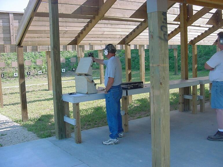 Pistol Shooting Range at Fancy Creek