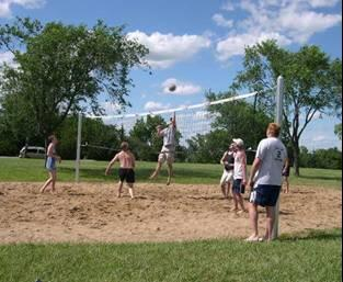 Sand Volleyball at River Pond