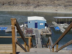 Wildcat Marina in the Spillway Area